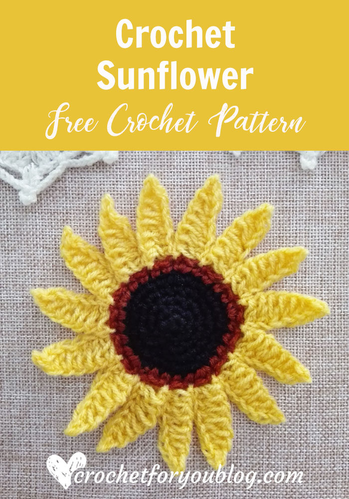 Crochet Sunflower Free Pattern