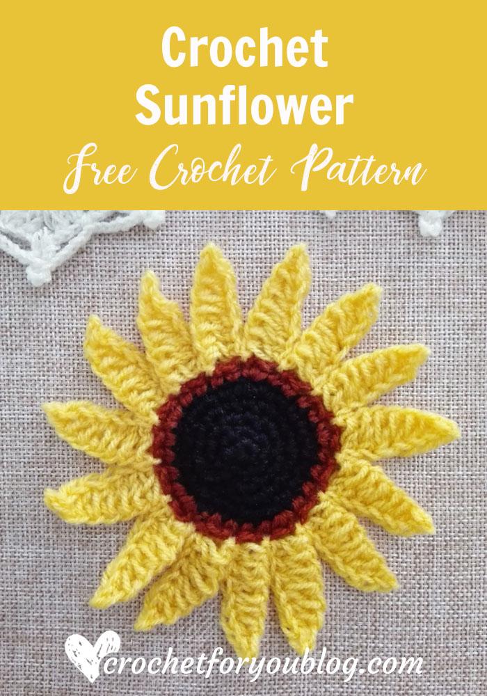 Crochet Sunflower Free Pattern