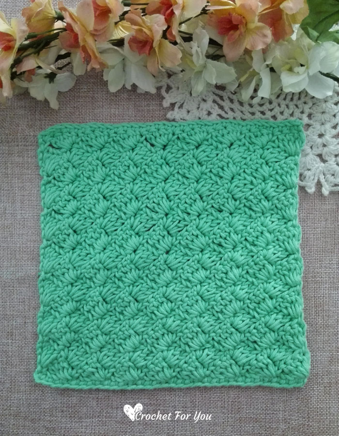 Crochet Tulip Stitch Dishcloth - free pattern
