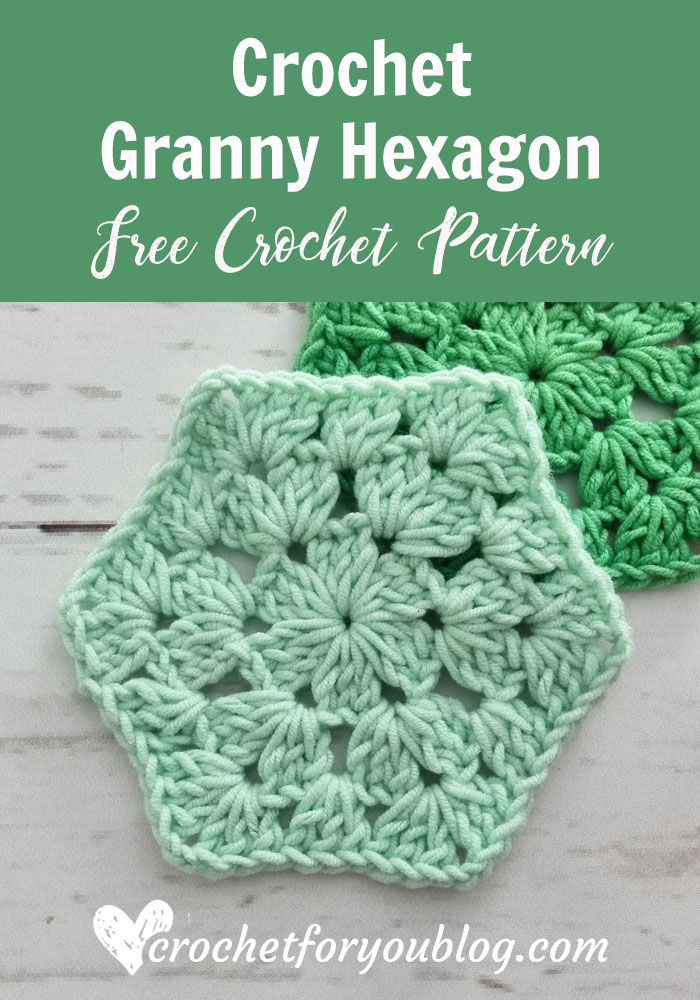 Crochet Granny Hexagon Free Pattern