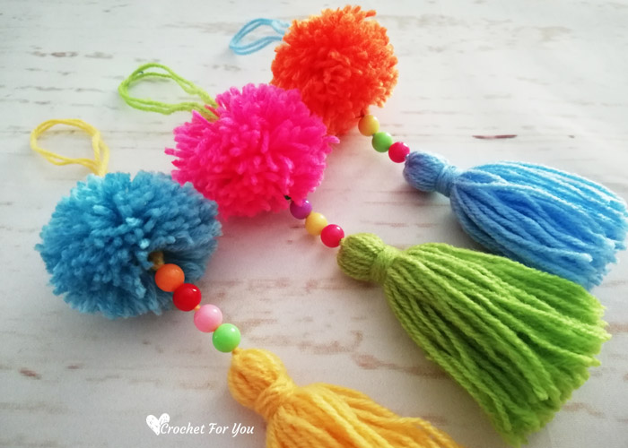 How to make pompom tassel - Easy DIY Tutorial