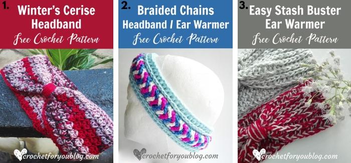 Crochet Earwarmer and headband - free pattern