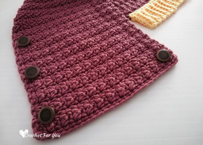 Crochet Samara Button Cowl Free Pattern