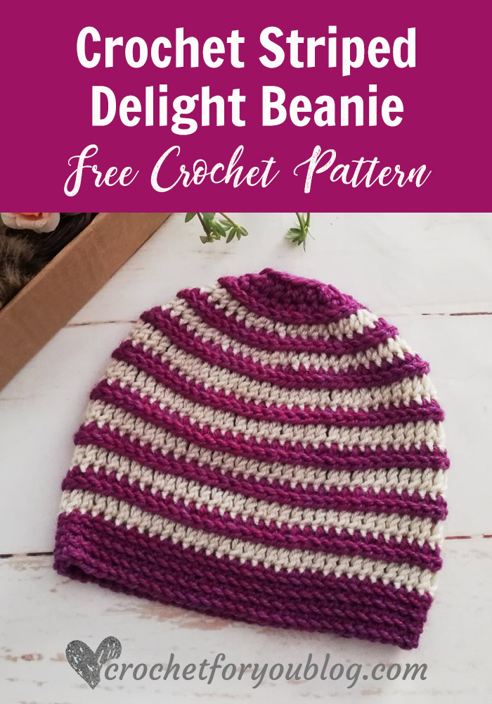 Crochet Striped Delight Beanie Free Pattern