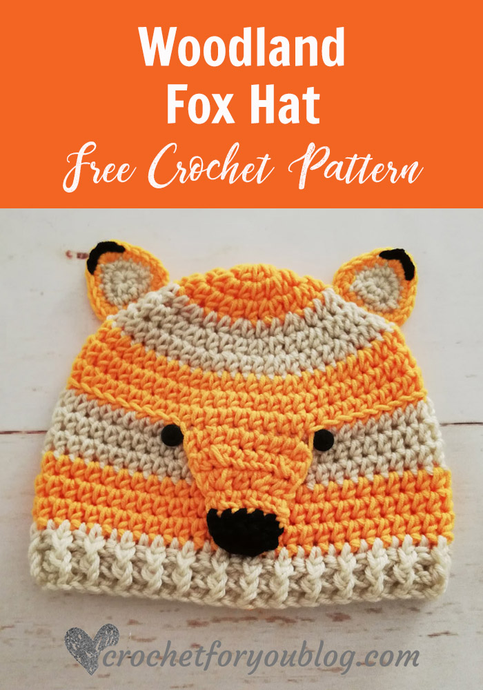 Crochet Woodland Fox Hat Free Pattern