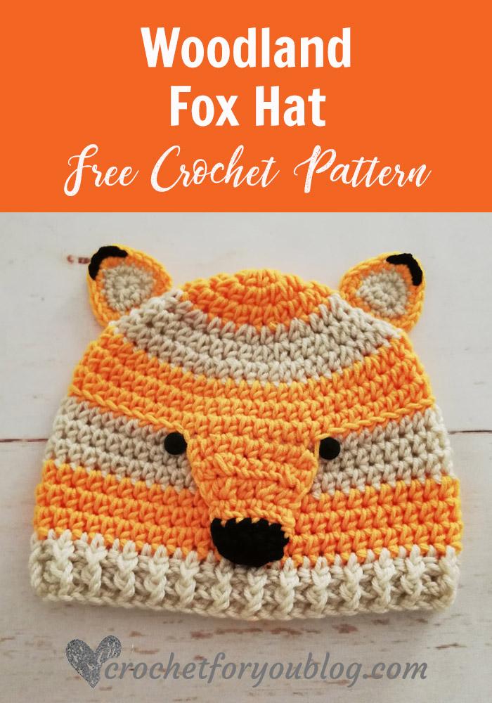 Crochet Woodland Fox Hat Free Pattern