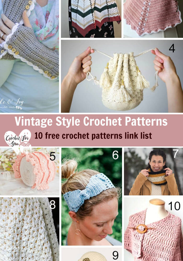 Vintage Style Crochet Patterns - 10 free crochet pattern link list
