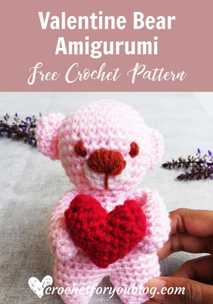 Valentine Bear Free Crochet Pattern