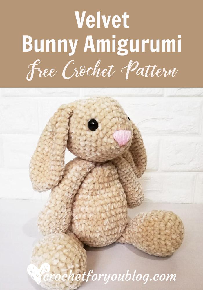 Velvet Bunny Amigurumi Free Crochet Pattern
