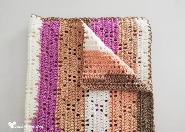 Ribbon Cake Crochet Blanket Free Pattern