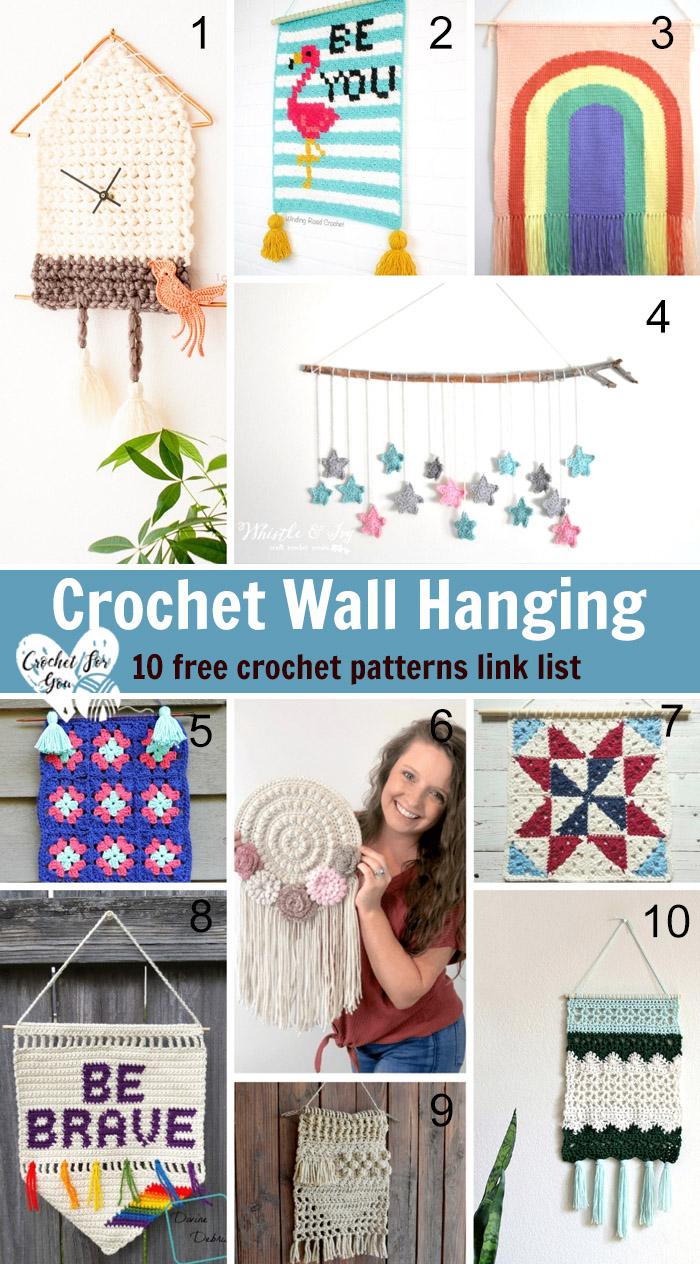 Crochet Wall Hanging - 10 Free Crochet Pattern Link List