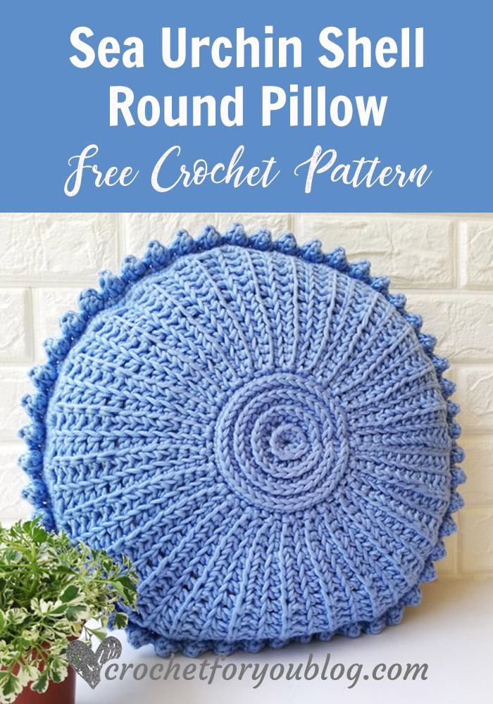 Sea Urchin Shell Crochet Pillow Free Pattern