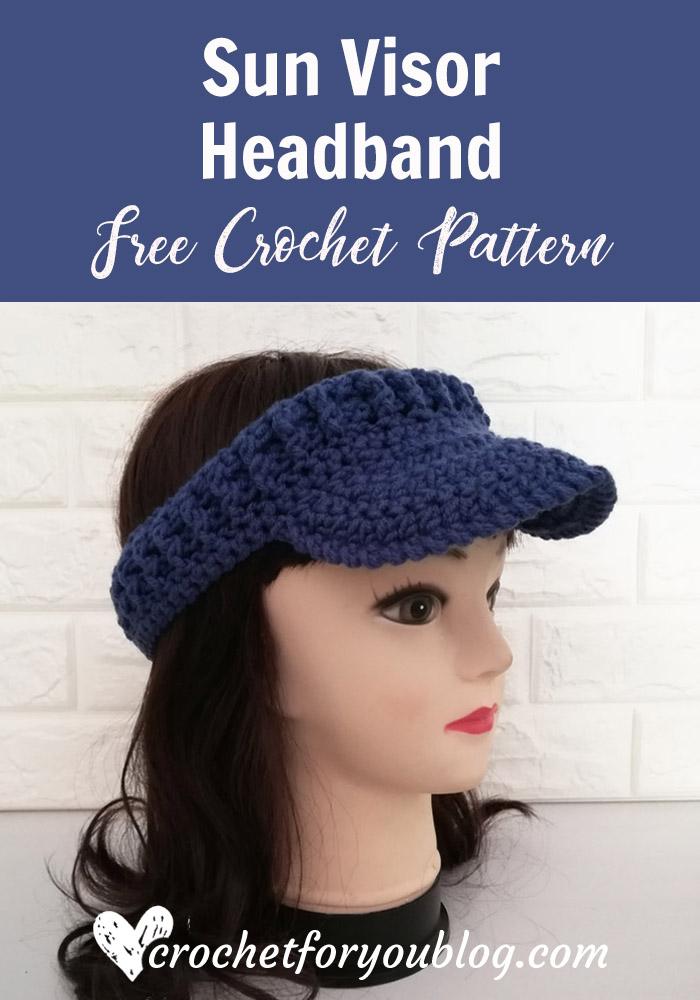 Sun Visor Headband Free Crochet Pattern