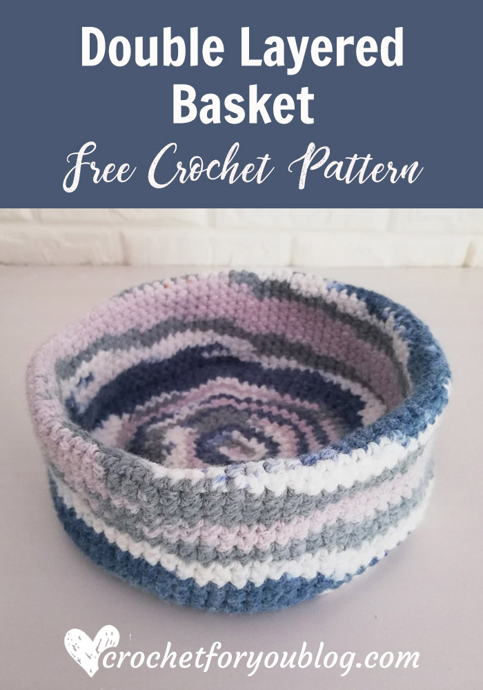 Crochet Double Layered Basket Free Pattern