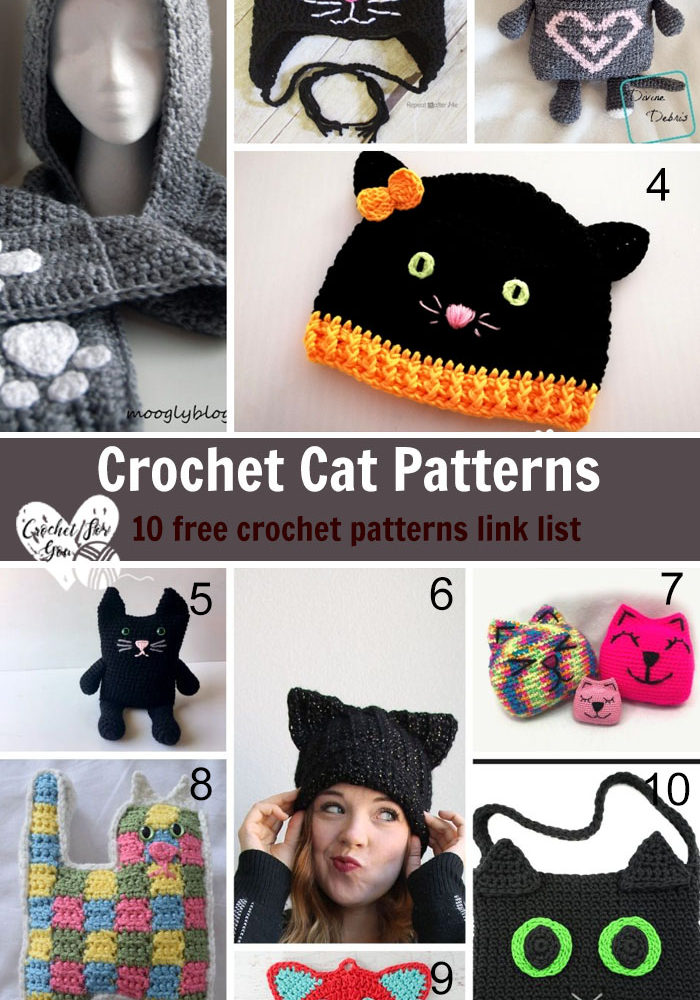 Crochet Cat Patterns - 10 free crochet pattern link list
