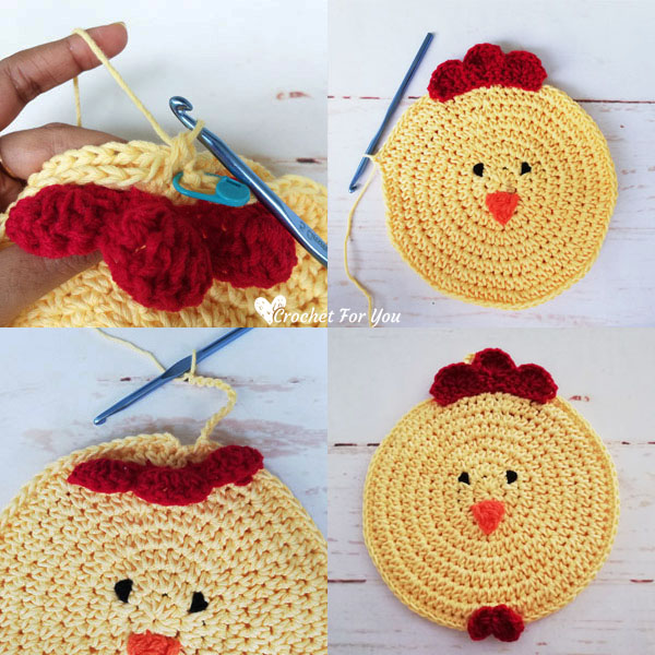 Crochet Chicken Potholder Free Pattern