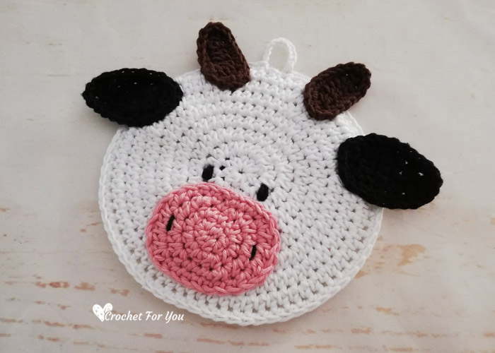 Crochet Cow Potholder Free Pattern