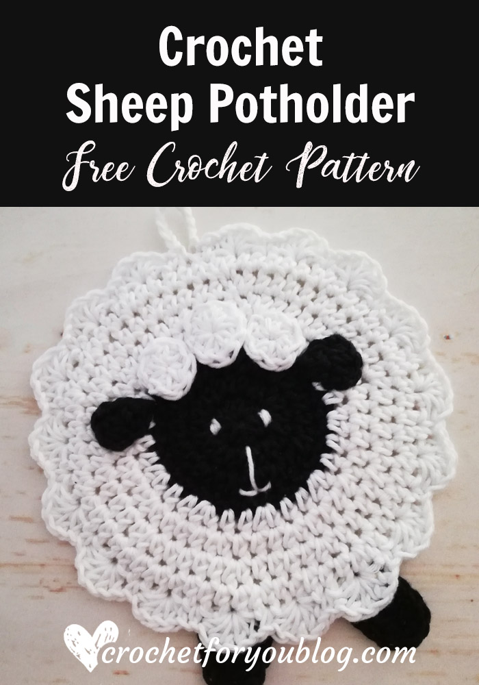 Crochet Sheep Potholder Free Pattern