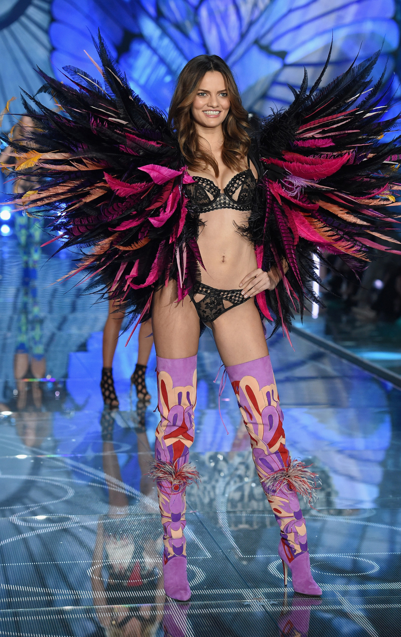 NEW YORK, NY - NOVEMBER 10: Model Valery Kaufman from Russia walks the runway during the 2015 Victoria's Secret Fashion Show at Lexington Avenue Armory on November 10, 2015 in New York City. (Photo by Dimitrios Kambouris/Getty Images for Victoria's Secret) *** Local Caption *** Valery Kaufman