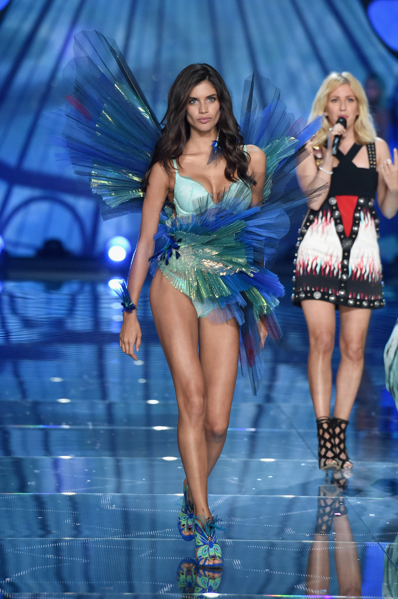 Sara Sampaio from Portugal walks the runway during the 2015 Victoria's Secret Fashion Show at Lexington Avenue Armory on November 10, 2015 in New York City.