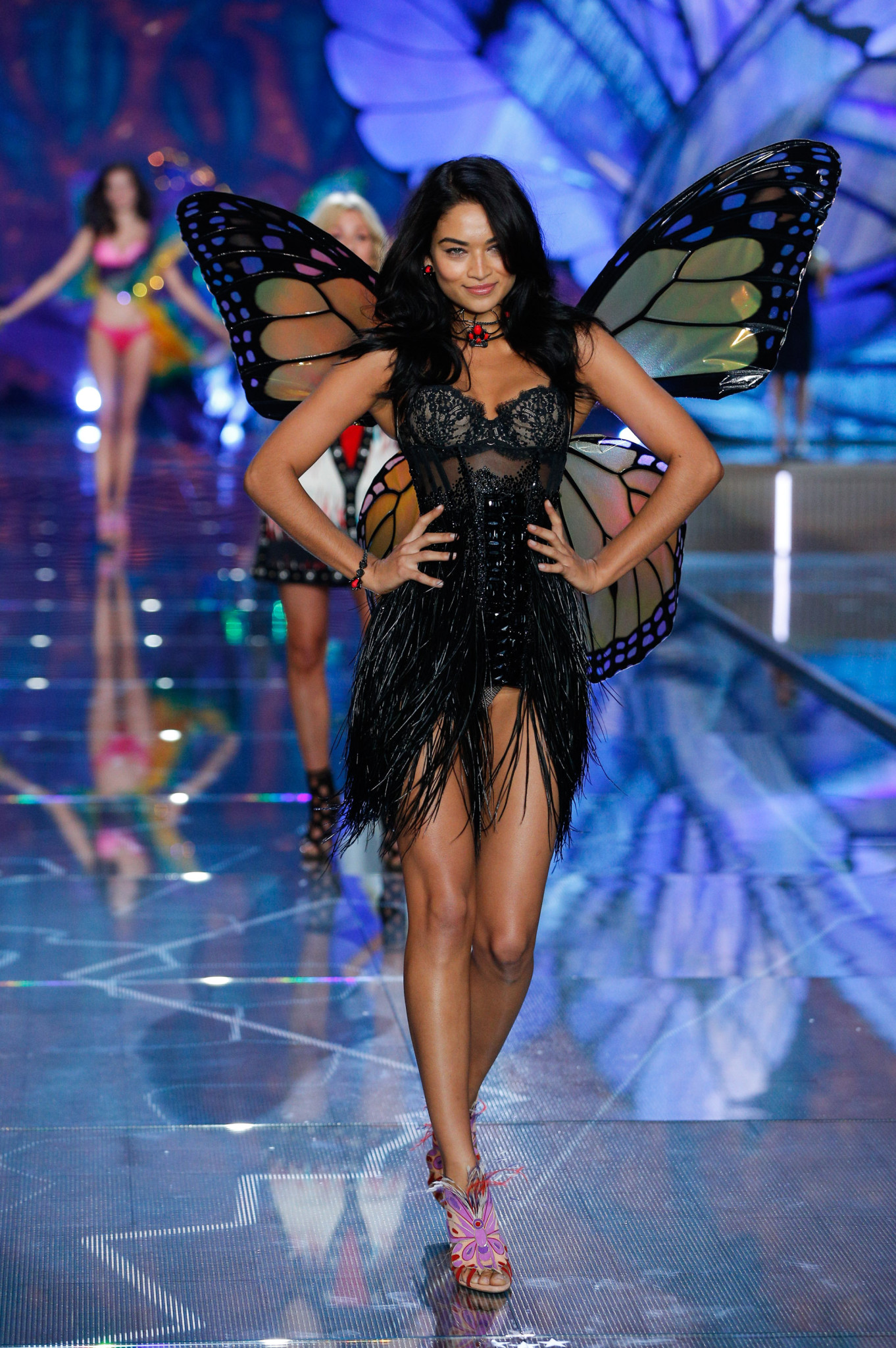 NEW YORK, NY - NOVEMBER 10: Model Shanina Shaik walks the runway during the 2015 Victoria's Secret Fashion Show at Lexington Avenue Armory on November 10, 2015 in New York City.
