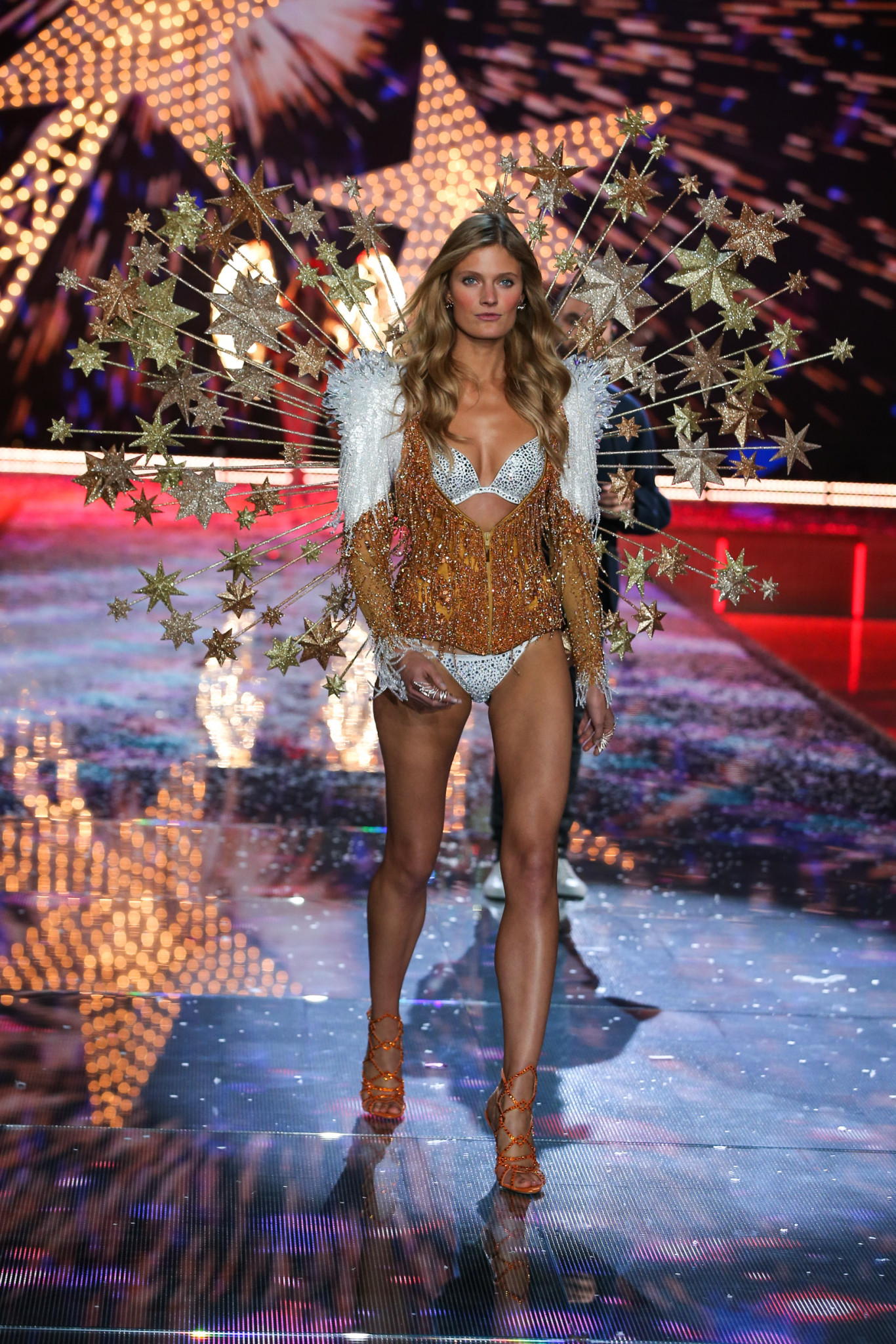 Constance walks the runway at the 2015 Victoria's Secret Fashion Show in New York City on November 10th, 2015