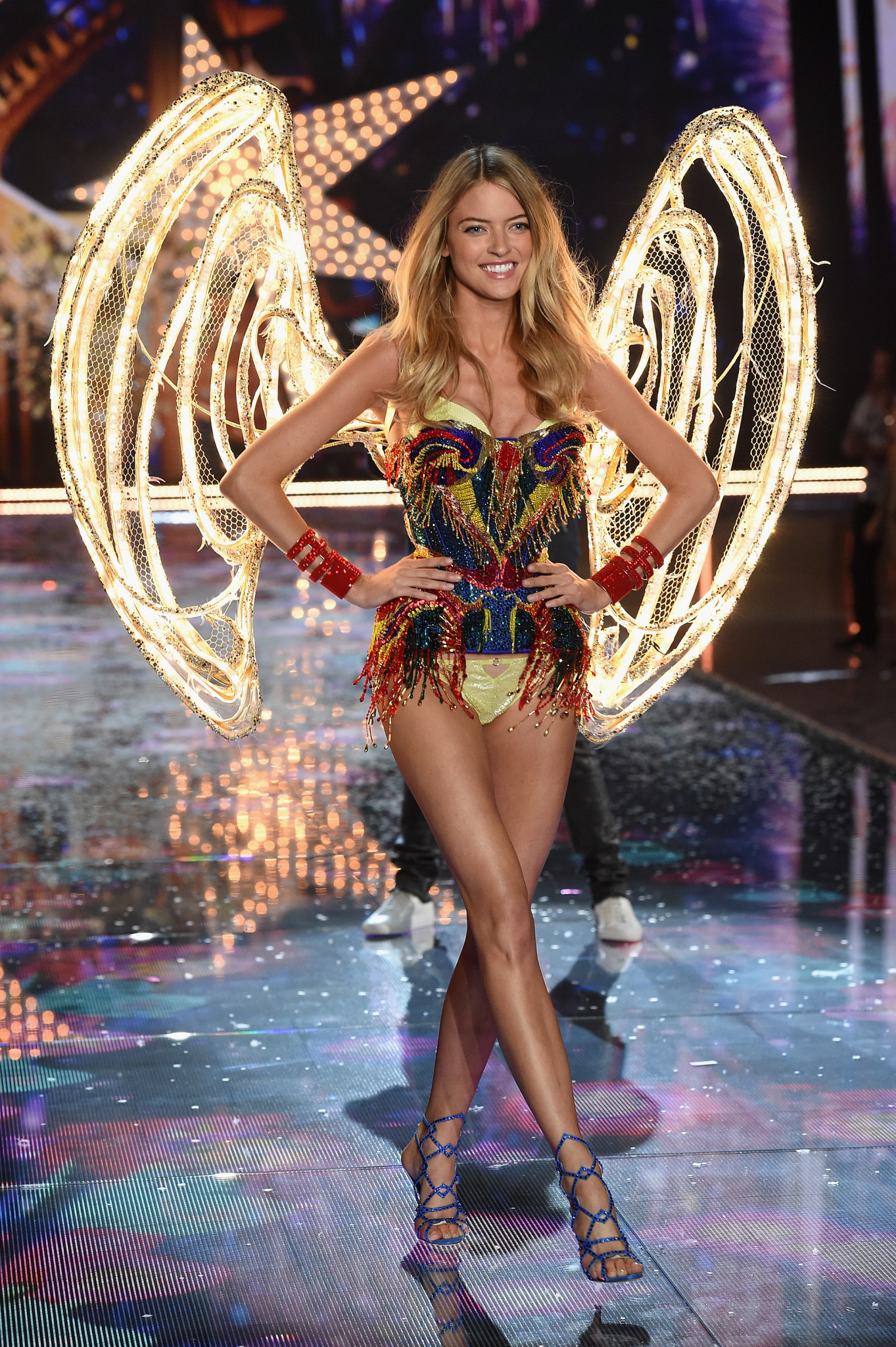 NEW YORK, NY - NOVEMBER 10: Model and New Victoria's Secret Angel Martha Hunt walks the runway during the 2015 Victoria's Secret Fashion Show at Lexington Avenue Armory on November 10, 2015 in New York City. (Photo by Dimitrios Kambouris/Getty Images for Victoria's Secret) *** Local Caption *** Martha Hunt