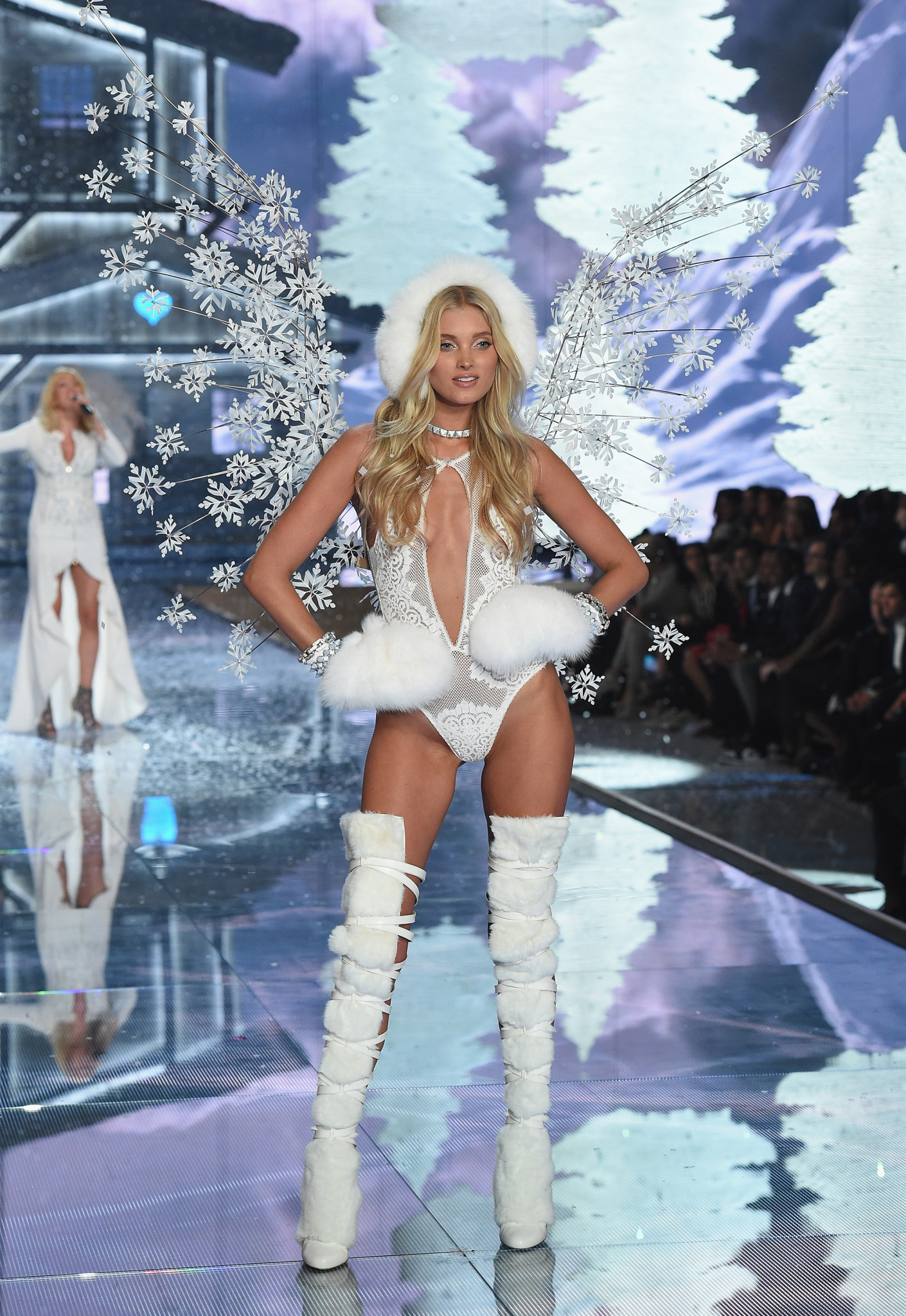 NEW YORK, NY - NOVEMBER 10: Model and New Victoria's Secret Angel Elsa Hosk from Sweden walks the runway during the 2015 Victoria's Secret Fashion Show at Lexington Avenue Armory on November 10, 2015 in New York City. (Photo by Dimitrios Kambouris/Getty Images for Victoria's Secret) *** Local Caption *** Elsa Hosk