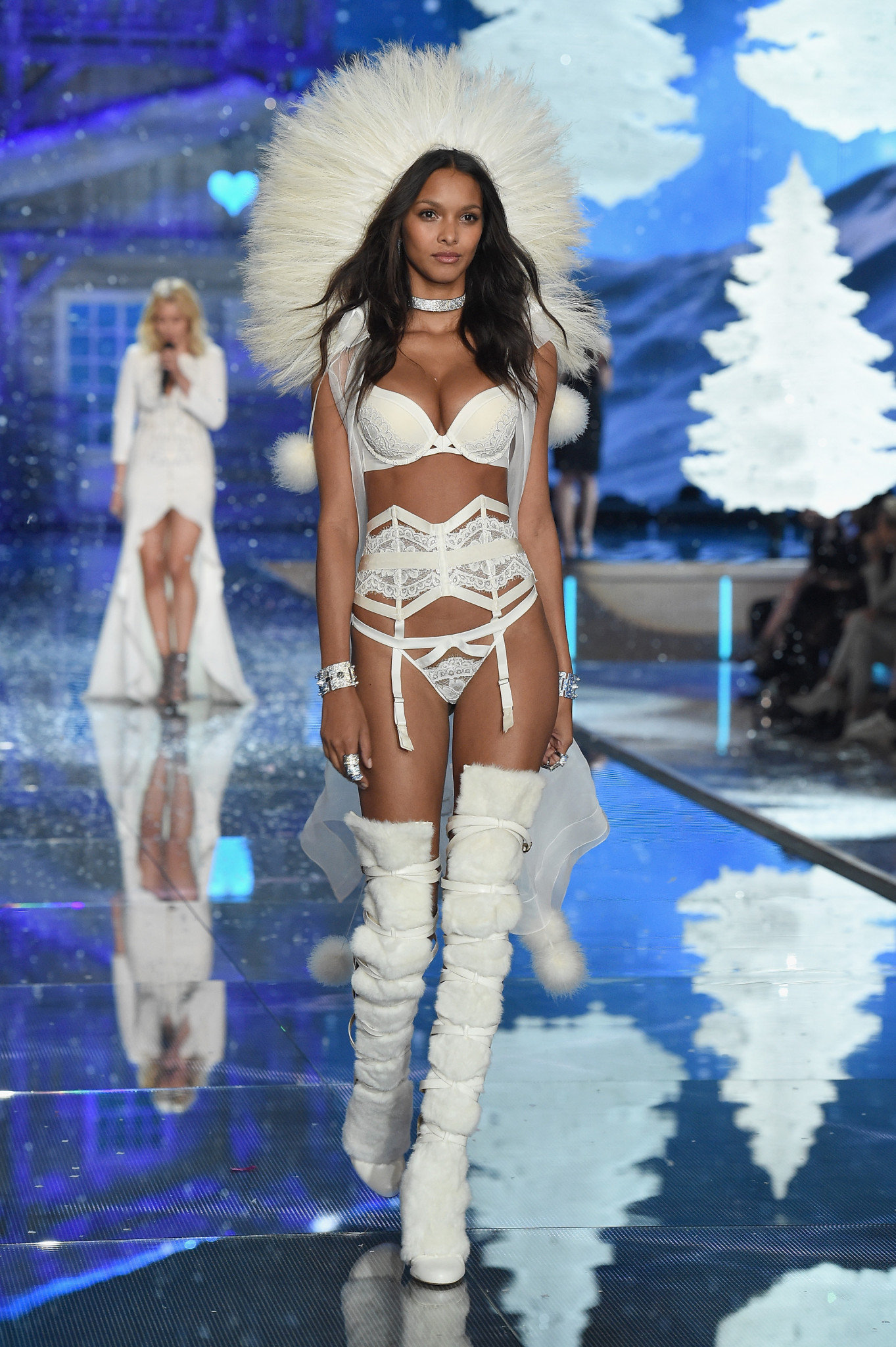 NEW YORK, NY - NOVEMBER 10: Model and New Victoria's Secret Angel Lais Ribeiro from Brazil walks the runway during the 2015 Victoria's Secret Fashion Show at Lexington Avenue Armory on November 10, 2015 in New York City. (Photo by Dimitrios Kambouris/Getty Images for Victoria's Secret) *** Local Caption *** Lais Ribeiro