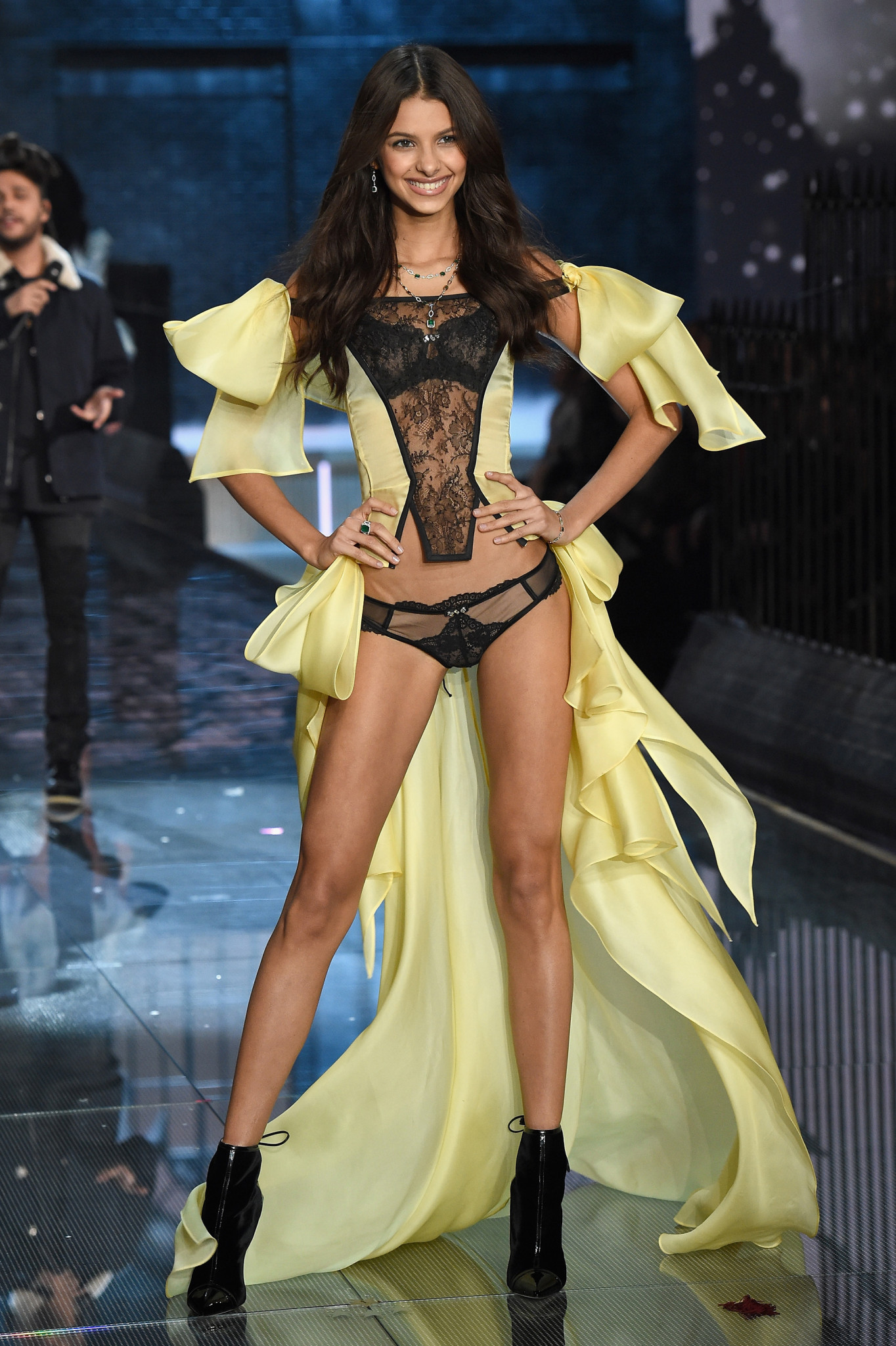 Bruna Lirio from Brazil NEW YORK, NY - NOVEMBER 10: Model Sara walks the runway during the 2015 Victoria's Secret Fashion Show at Lexington Avenue Armory on November 10, 2015 in New York City.