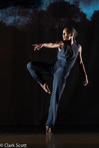 Catherine Ellis Kirk in Hallowed. Photo by Clark Scott. Image courtey of Newman Center Presents.