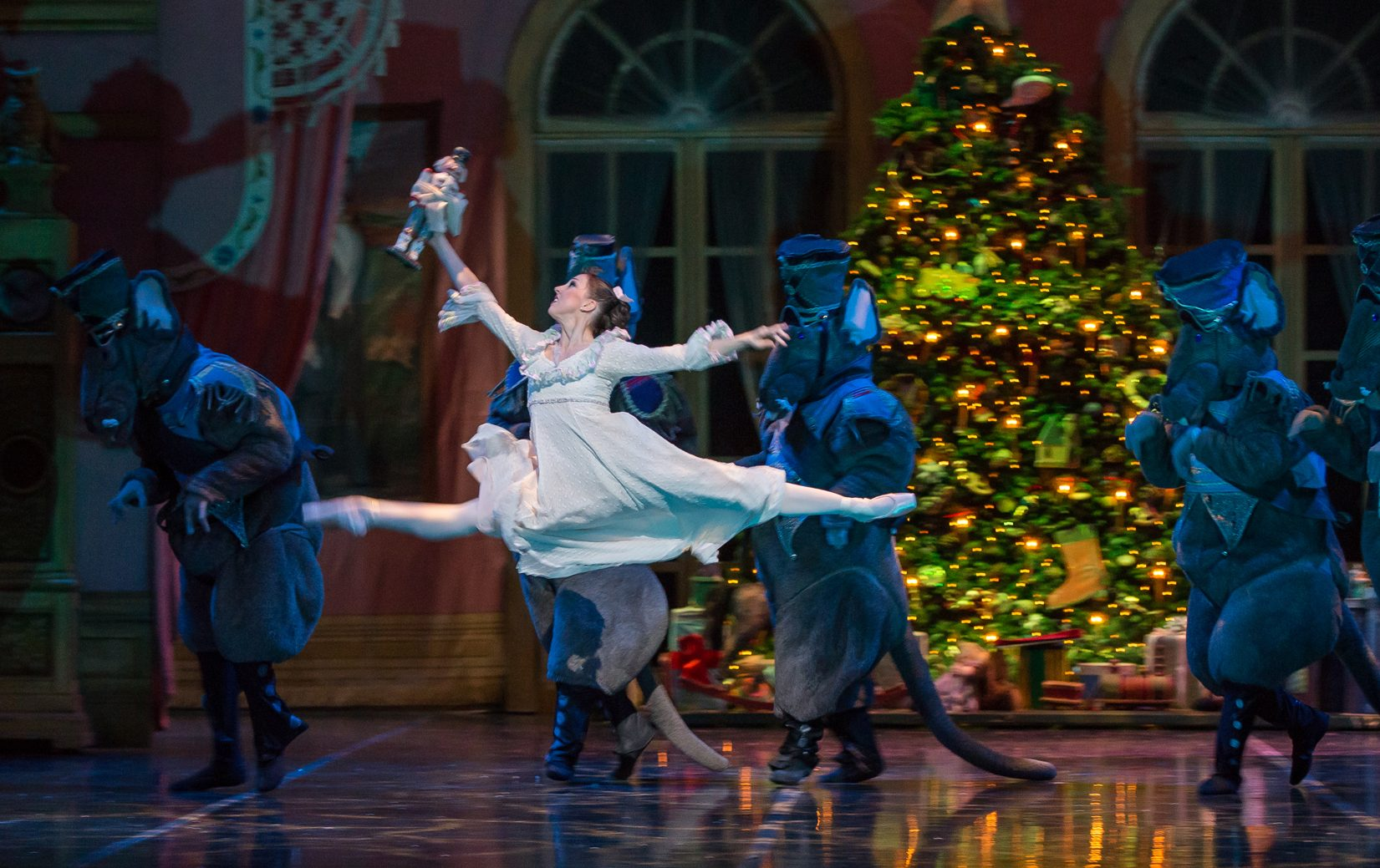 Dana Benton and Artists of Colorado Ballet - The Nutcracker - By Mike Watson. Image courtesy of Colorado Ballet.