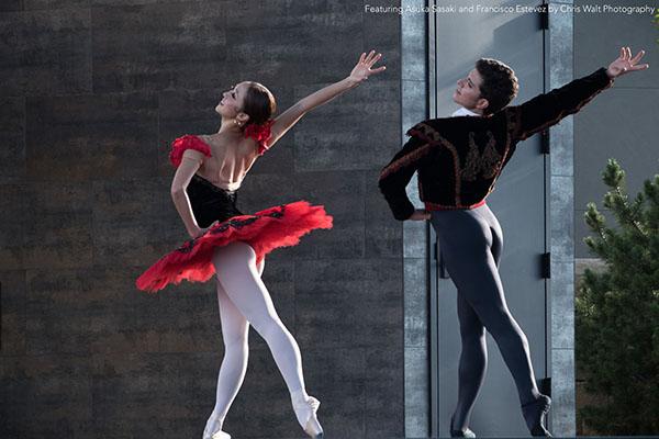 Featuring Asuka Sasaki and Francisco Estevez by Chris Walt Photography. Image courtesy of Colorado Ballet.