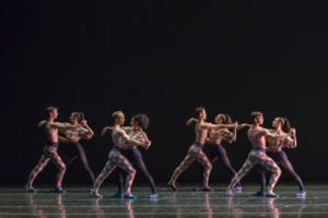 Colorado Ballet. Artists of Colorado Ballet by Mike Watson. Brief Fling choreography by Twyla Tharp. Courtesy of Colorado Ballet.