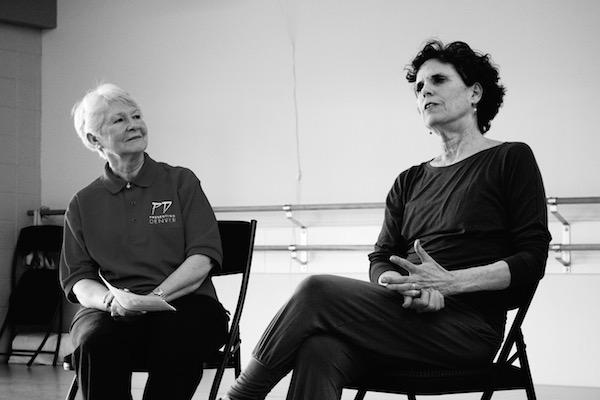 Joan Brown with Hannah Kahn. Photo by Presenting Denver.
