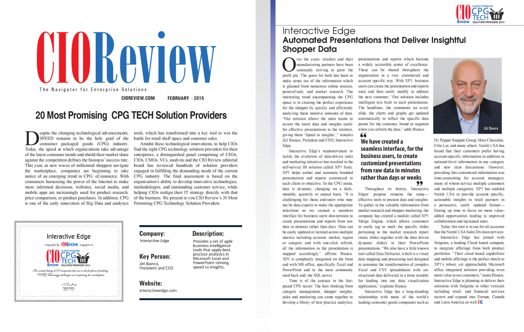 CIO - Top 20 CPG Solution Providers - Interactive Edge