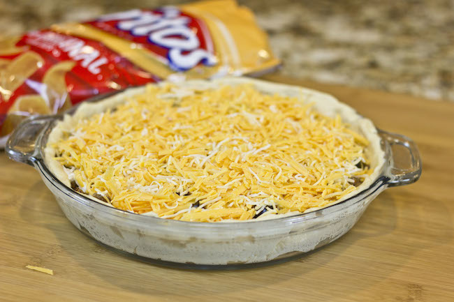Frito Taco Pie made with Pillsbury Crescent rolls! So easy and yummy!!