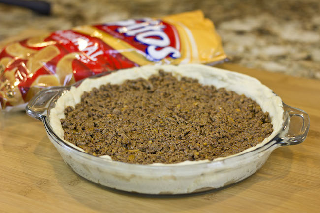 Frito Taco Pie made with Pillsbury Crescent rolls! (super fun video tutorial included)
