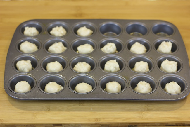 Make cookie cups with a muffin tin and cookie dough!