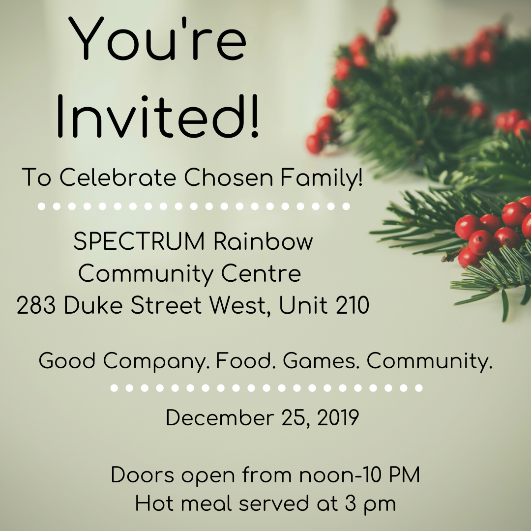 A celebration of chosen family Dec 25