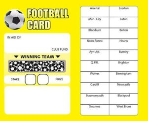 Bingosupermarket Football Fundraising Scratch Cards (20 Team)