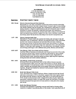 Before and After Resume Sample: Manager