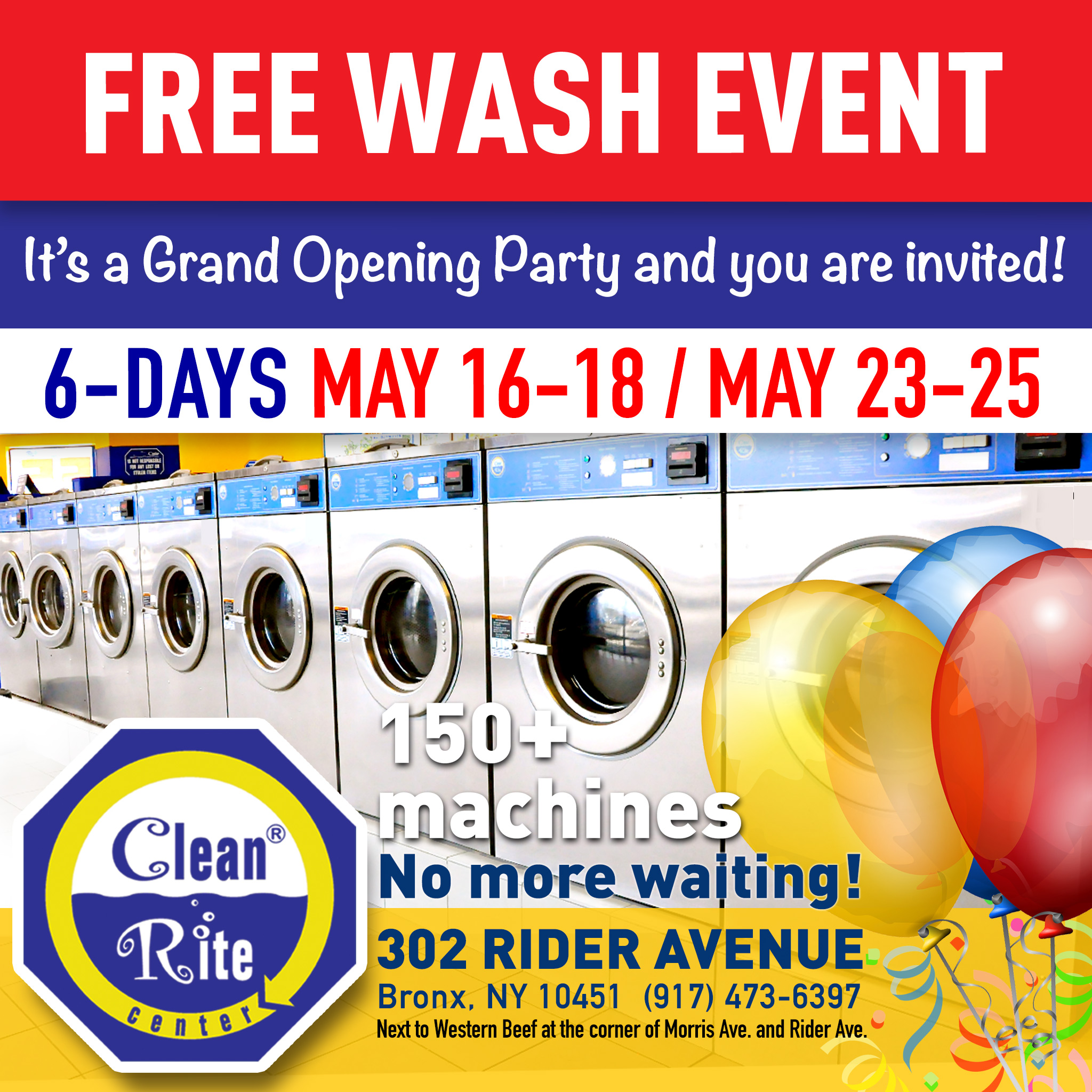 grand opening free wash event