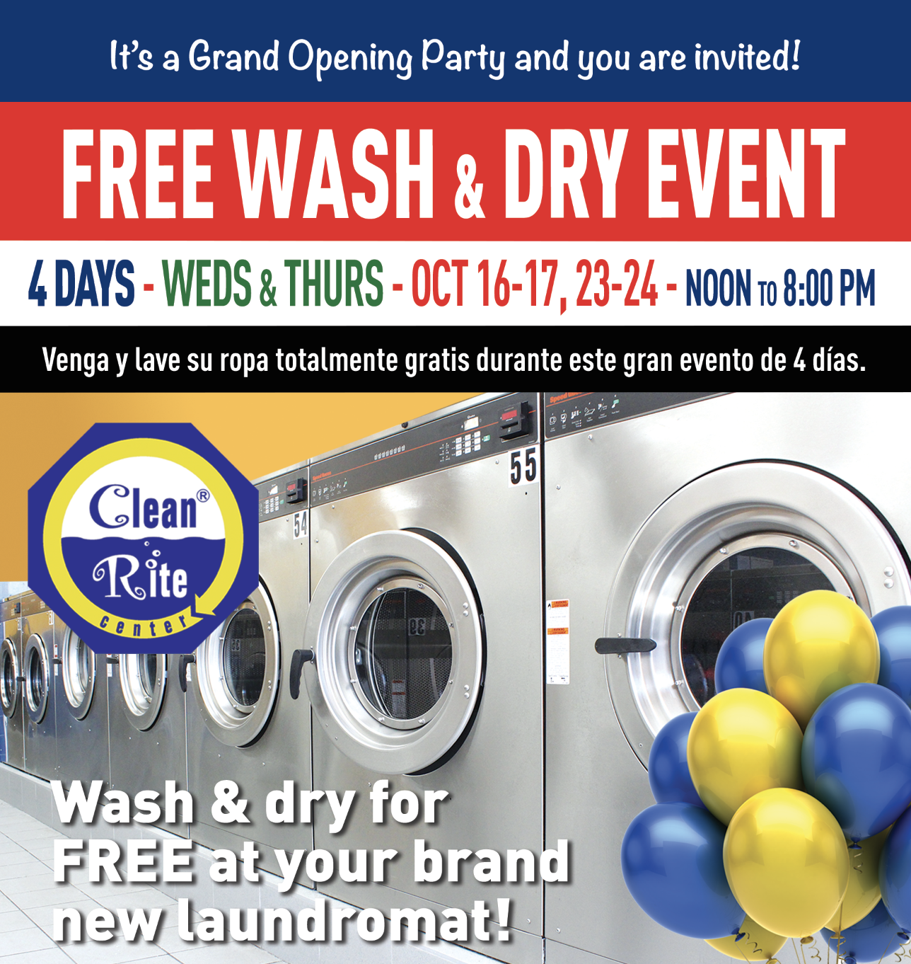 4-Day Free Wash, Free Dry Event in Allentown, PA