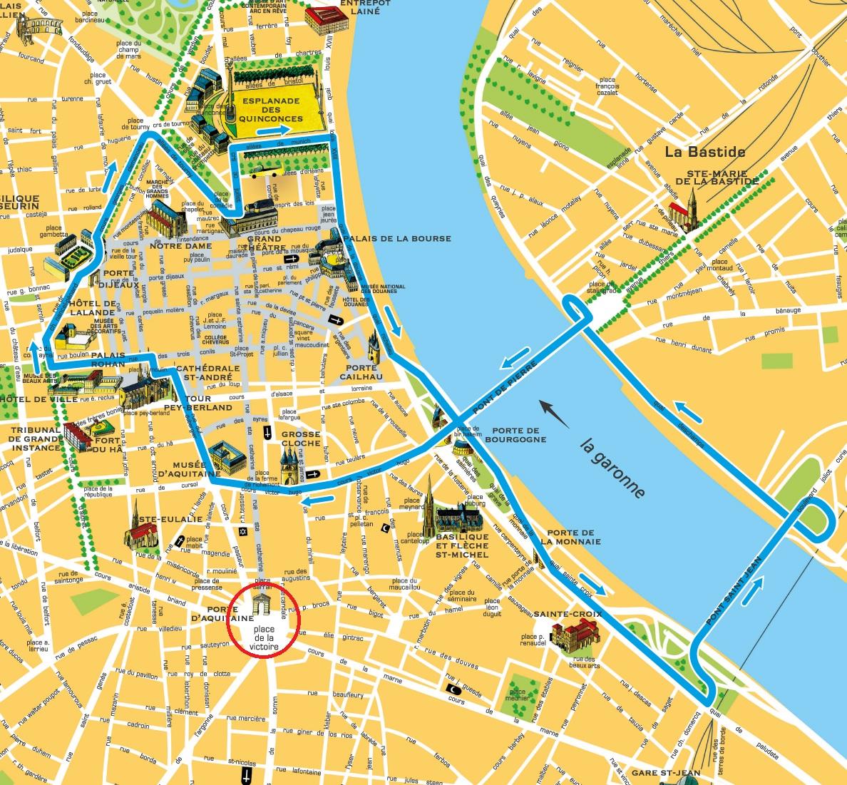 Bordeaux - Mapa retirado do site da cidade