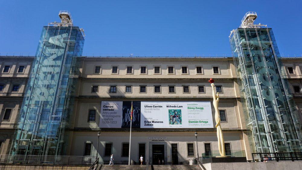 O museu de arte moderna da cidade de Madri - Reina Sofia
