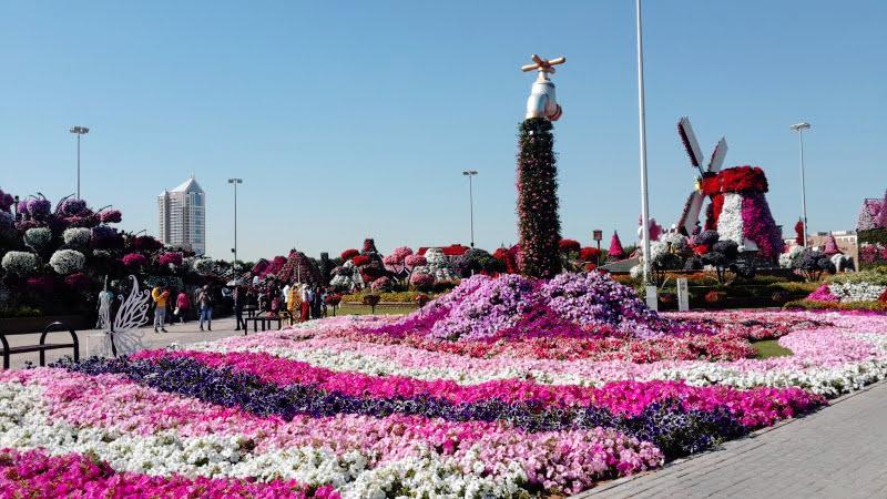 Morando em Dubai e desfrutando das belezas do Miracle Garden