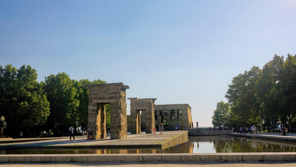 Templo Debod é um presente do Egito para a Espanha. Templos da cidade de Debod