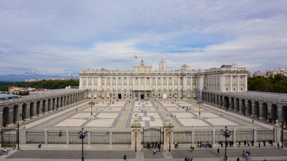 Vista da Catedral para o Palácio Real de Madri