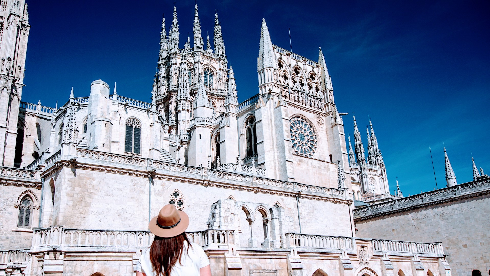 Vista da Plaza Del Rey para a Catedral de Burgos